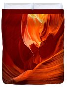 Gold Red And Orange Abstract Duvet Cover