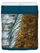 Gold Rush Abstract Duvet Cover