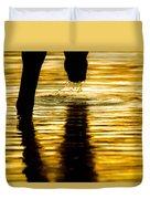 Gold Strike Duvet Cover