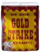 Gold Strike Stamps Duvet Cover