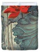 Gold Thread Lotus Duvet Cover