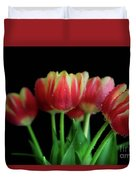 Gold Tip Tulips Duvet Cover by Tracy Hall