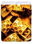 Gold Treasures Duvet Cover