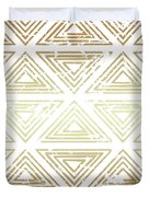 Gold Tribal Duvet Cover