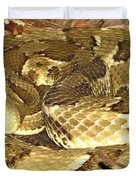 Gold Viper Duvet Cover