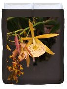 Gold Yellow Orchid  Duvet Cover