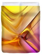 Golden Abstract 042711 Duvet Cover