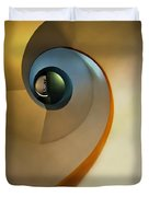 Golden And Brown Spiral Staircase Duvet Cover