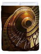 Golden And Brown Spiral Stairs Duvet Cover