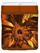 Golden Anemone Duvet Cover