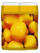 Golden Apples Of The Sun Duvet Cover