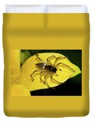Golden Arachnid  Duvet Cover