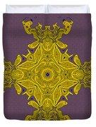Golden Artifact Duvet Cover