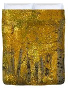 Golden Aspen Duvet Cover