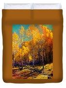 Golden Aspens Duvet Cover