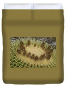 Golden Barrel Cactus Duvet Cover