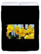 Golden Blooms Beside The Porch Duvet Cover