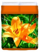 Golden Blossom Duvet Cover