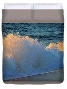 Golden Blue Splash Duvet Cover