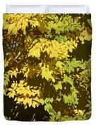 Golden Branches Duvet Cover
