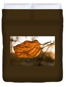 Golden Briar Leaf Duvet Cover