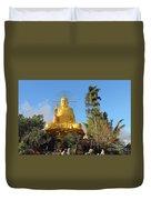 Golden Buddha In Vietnam Dalat Duvet Cover