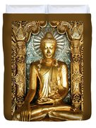Golden Buddha Duvet Cover