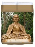 Golden Buddhist Monk Duvet Cover