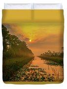 Golden Canal Morning Duvet Cover