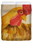 Golden Chicken Duvet Cover