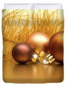 Golden Christmas Duvet Cover by Wim Lanclus