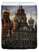 Golden Church Duvet Cover