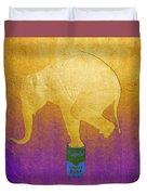 Golden Circus Duvet Cover