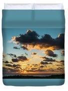 Golden Cloud Sunrise Delray Beach Florida Duvet Cover