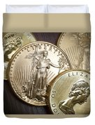 Golden Coins Duvet Cover