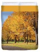 Golden Colors In Autumn Bellavista Park Oregon. Duvet Cover