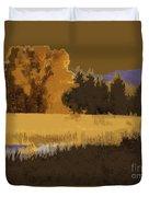 Golden Cottonwood Duvet Cover