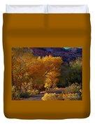 Golden Cottonwoods Duvet Cover