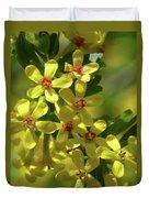 Golden Currant Blossoms Duvet Cover