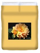 Golden Dahlia With Bud Duvet Cover