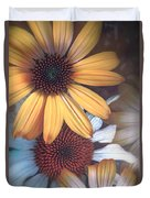 Golden Daisies Duvet Cover