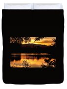 Golden Day At The Lake Duvet Cover