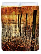Golden Decay Duvet Cover