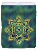 Golden Decorative Star Of Lakshmi - Ashthalakshmi  Duvet Cover