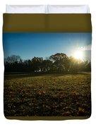 Golden Dew Autumn Sunrise Duvet Cover