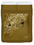 Golden Dewdrops Duvet Cover