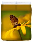 Golden Dreams Of A Summer Garden Duvet Cover