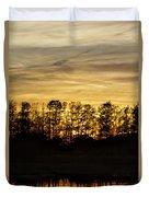 golden Dusk Duvet Cover