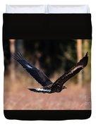 Golden Eagle Flying Duvet Cover