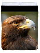 Golden Eagle - Posing For The Camera Duvet Cover by Sue Harper